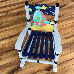 Toddler Rocking Chair - Space 🪐👽